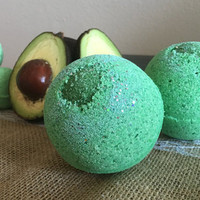 Keep Calm, Go Green! Bath Bomb; Foaming Bath Bomb; All Natural bath bomb; Fresh Avocado; Green Bath Bomb