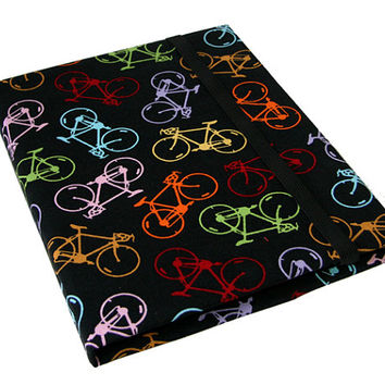 iPad Air 2 3 4 5 Case Mini Hard Case iPad Cover i Pad stand up Cute Bicycle Print Camera Hole Option Magnetic Closure