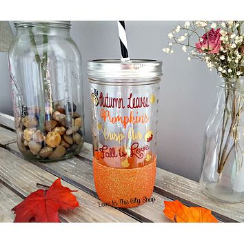 Fall Tumbler (Glass Tumbler)