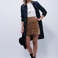Free People Womens Structured Belted Denim Jacket