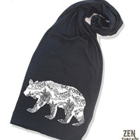 California BEAR Scarf TriBlend Jersey 4 Colors by ZenThreads