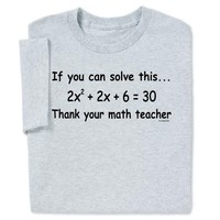 Thank Math Teacher T-shirt - Back to School Sale