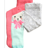 H&M - 2-pack Tights - Neon pink - Kids