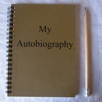 My Autobiography  5 x 7 journal by JournalingJane on Etsy