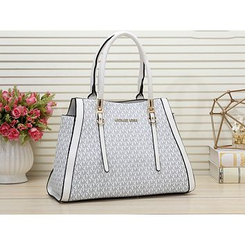 MK Hot-selling Printed Lady's Single Shoulder Bag Fashion Shopping Bag White