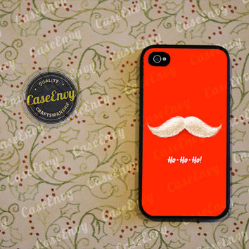 Santa Claus Mustache Case for iPhone 4 / 4s / 5 / 5s or Galaxy S3 / S4