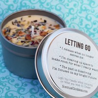 LETTING GO Candle - Handmade Intention Candle for Releasing & Creating Space For What You Desire - Full Moon Candle