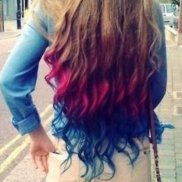 Color Your Hair at Home  Chalk Hair Color  Dip by ShareeBoutique