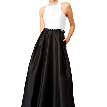 ML Monique Lhuillier Jadore Contrast Gown