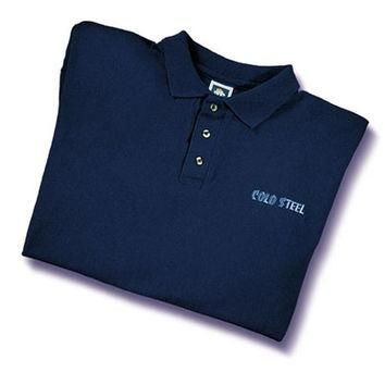 Cold Steel Embroidered Polo Shirt, Navy, Medium