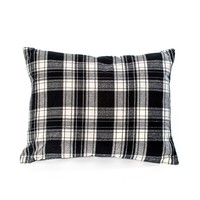 "14"" X 18"" BLACK & WHITE PLAID PILLOW"