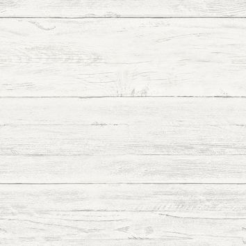 Brewster Wallpaper 2701-22307 White Washed Boards Cream Shiplap