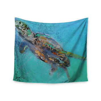 "Josh Serafin ""Daddy"" Blue Green Wall Tapestry"