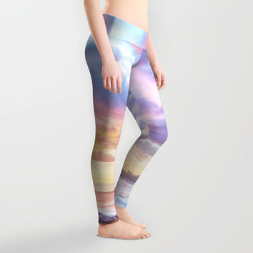 Calm before a storm Leggings by exobiology