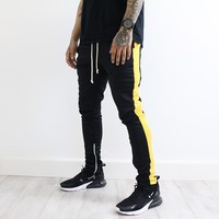 Derek Track Pants (Black/Gold)