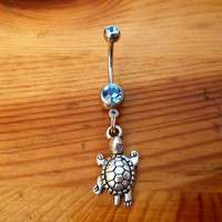 Belly button ring - Turtle Belly Button ring