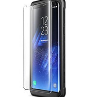 Galaxy S8+ Plus Screen Protector, Supcase FitGlass Premium 3D Tempered Glass Screen Protector for Samsung Galaxy S8+ [Compatible With Most Heavy Duty Cases]