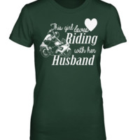 This Girl Loves Riding With Her Husband T-shirt