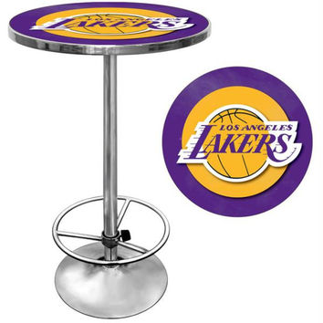 Los Angeles Lakers NBA Chrome Pub Table