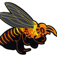 XXL Extra Large Stunning Wasp Bee Patch 20cm Applique