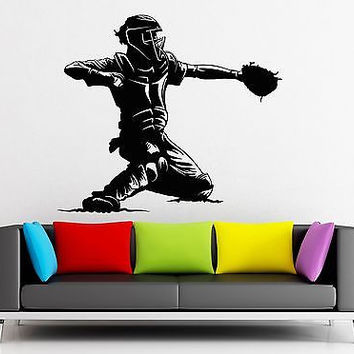 Wall Sticker Vinyl Decal Baseball Player Sports Man Fan Decor (ig2232)