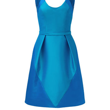Theia Blue Spear Dress