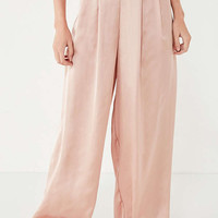 UO High-Rise Pleated Palazzo Pant | Urban Outfitters