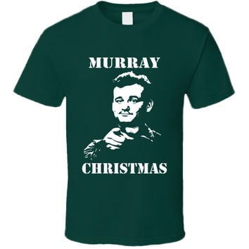 Youth Billy Murray Stripes Murray Xmas T-Shirt