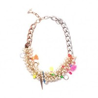 Cray Pearl Chain Necklace
