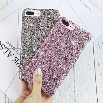 KISSCASE Colorful Sequins Case For iPhone 6s 6 7 8 Plus Bling Shiny Glitter Hard Back Cover Cases For Samsung Galaxy S7 S6 edge