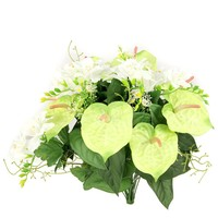 Artificial Anthurium and Freesia Mixed Flowers Bush