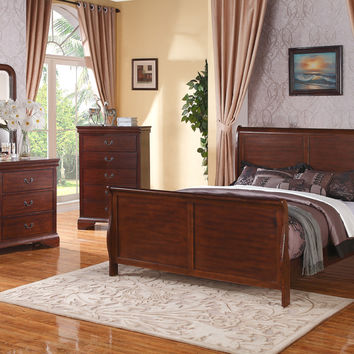Poundex 5pc Sleigh Bedroom Set