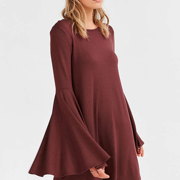 Ecote Knit Bell-Sleeve Mini Dress - Urban Outfitters