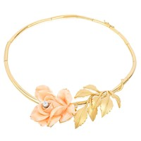 1970 Aldo Cipullo Coral Gold Rose Necklace
