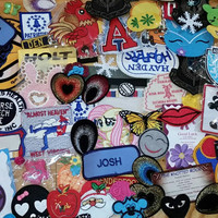 SALE 50 Patches! Huge lot of patches. Vintage patches. Iron on patches. New patches. Sew on patches. Random selection
