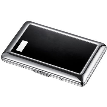 Visol Jaret Black Cigarette Case - Holds 7 Regular Cigarettes