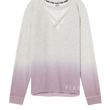 Campus Strappy Front Crew Tunic - PINK - Victoria's Secret