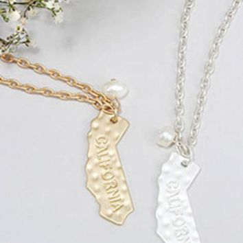 ONETOW California State Necklace