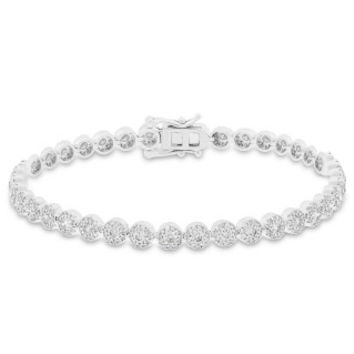 3.03ct 14k White Gold Diamond Lady's Bracelet