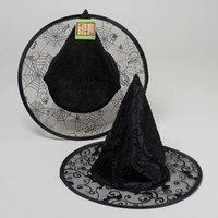 kids black organza witch hat Case of 48