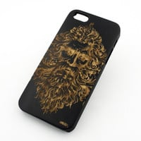 Black Bamboo Wood Case - Zeus Greek Mythology