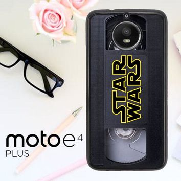 Star Wars Vhs Tape Hard X4873 Motorola Moto E4 Plus Case