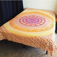 Mandala tapestey bed couch siread dorm room decor gift
