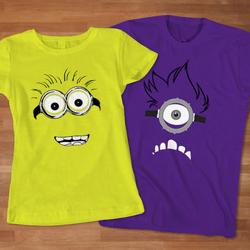 Despicable Me, Minion Couples T-shirt, Custom Couples T-Shirt, Awesome Couple T-Shirt, Cute Couple T-Shirt