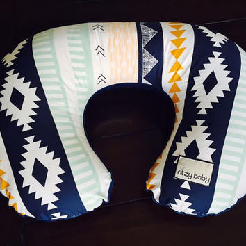 Arid Horizons Boppy® Cover, Cover for Nursing Pillow, Boppy® Covers, Ritzy Baby Boppy® Covers, Navy Minky Reverse, Limited