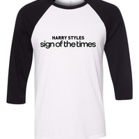 "Harry Styles ""Harry Styles Sign of the Times"" Baseball Tee"
