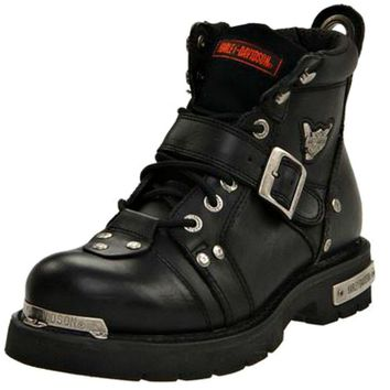 Harley-Davidson® Men's Brake Buckle Black Leather Motorcycle Boots - D91684