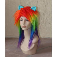 Rainbow Dash cosplay costume wig  My Little Pony  by GimmCat