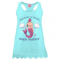 *Simply Southern Tank- Blue Mermaid
