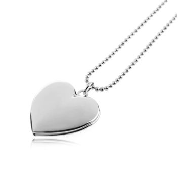ON SALE - Adoration Smooth Heart Locket Necklace